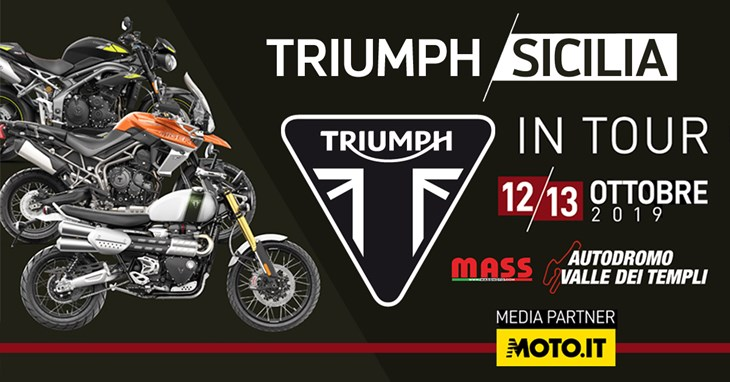 Triumph Sicilia in Tour - Ottobre 2019