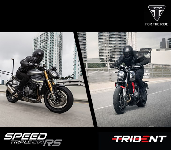 SPEED TRIPLE 1200 RS E TRIDENT 660 -LAUNCH EVENT